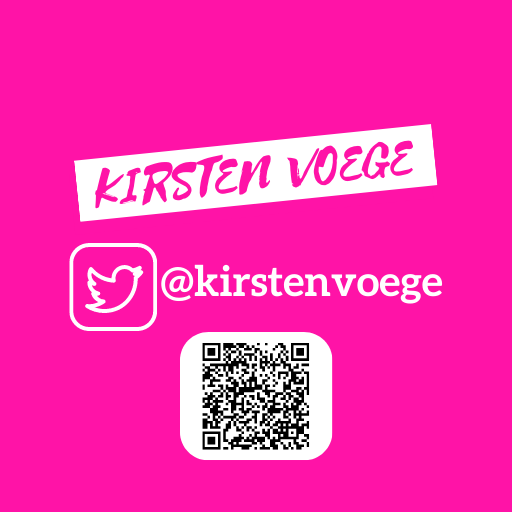 Kirsten Voege Social Media Feed TWITTER QR CODE
